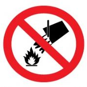 Prohibition safety sign - Do Not Extinguish 001